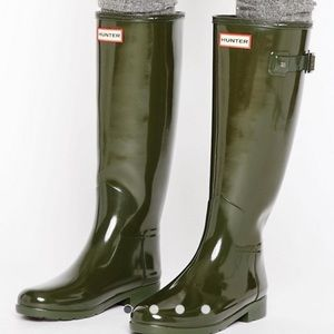 Hunter Refined Original Olive rain boots